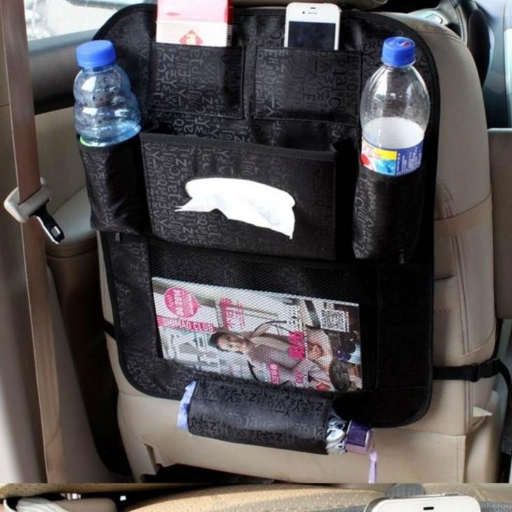 Органайзер на спинку сиденья автомобиля 54*42 см Черный (04016)