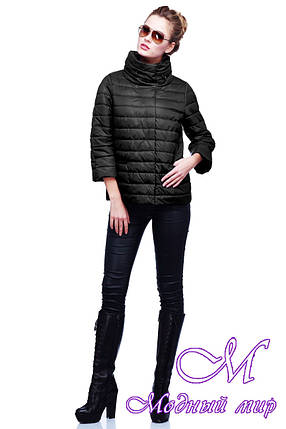 Женская черная весенняя куртка (р. 42-54) арт.Фарида, фото 2