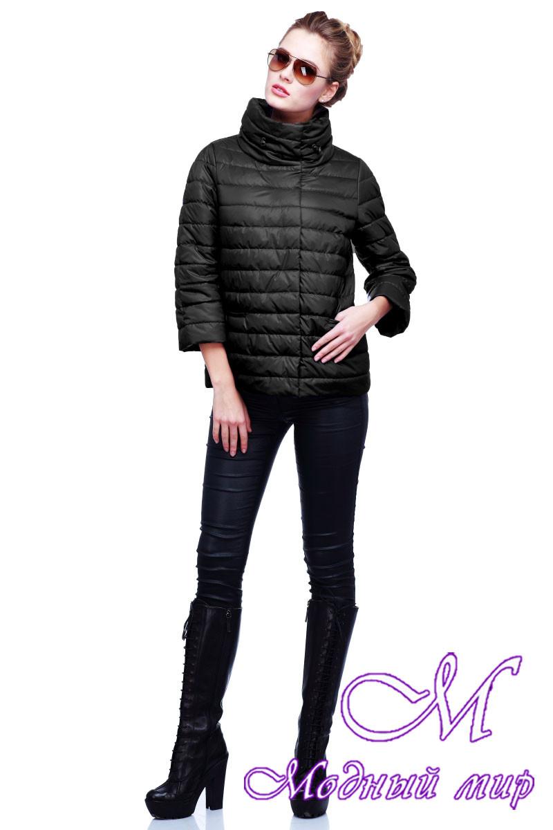 Женская черная весенняя куртка (р. 42-54) арт.Фарида