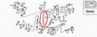 Тяга акселератора Spr OM602 (2-ух стор)  MERCEDES-BENZ
