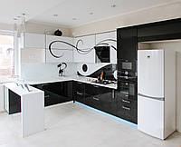 Кухня с рисунком ( чёрно белая )