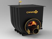 Дровяная печь Vesuvi Canada с варочной поверхностью и со стеклом (Тип 01)