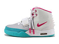 Женские кроссовки Nike Air Yeezy 2  White Pink, фото 1