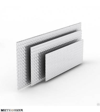 Алюминиевый лист рифленый 2,5х1000х2000 мм, фото 2