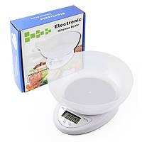 Весы кухонные электронные B05A до 5кг, 1 гр  + чаша, фото 1