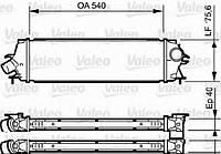 Радиатор интеркулера Trafic/Vivaro 2.0/2.5dCi 06>  VALEO