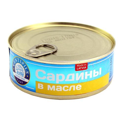 """Сардины """"Ventspils"""" в масле, 240г"""