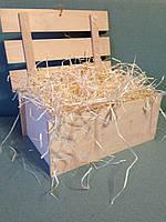 Декоративный наполнитель, древесная шерсть 250 грамм  (стружка, солома)