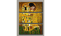 """Модульная картина на холсте """"Густав Климт - Поцелуй"""" для интерьера"""