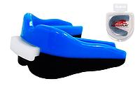 Капа боксерская Power Play  3313SR, сине-черный/dark blue black