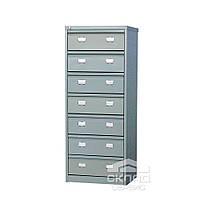 Картотечный (файловый) шкаф для документов формата А5 (AFC 07) 1327(h)x515x631 мм