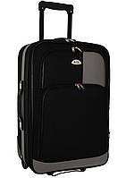 Чемодан сумка RGL 652 (средний) черно-серый