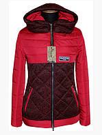 Женская короткая куртка демисезонная с капюшоном ( р. 42-56 )