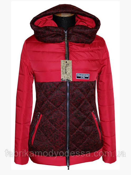 964f99ec4e2 Женская короткая куртка демисезонная с капюшоном ( р. 42-56 ) купить ...