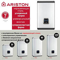 Плоский водонагреватель (бойлер) Ariston на 50 литров ABS VELIS INOX POWER