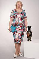 Новинки  платьев стильных, модных  Каролина  больших размеров   52, 54оптом