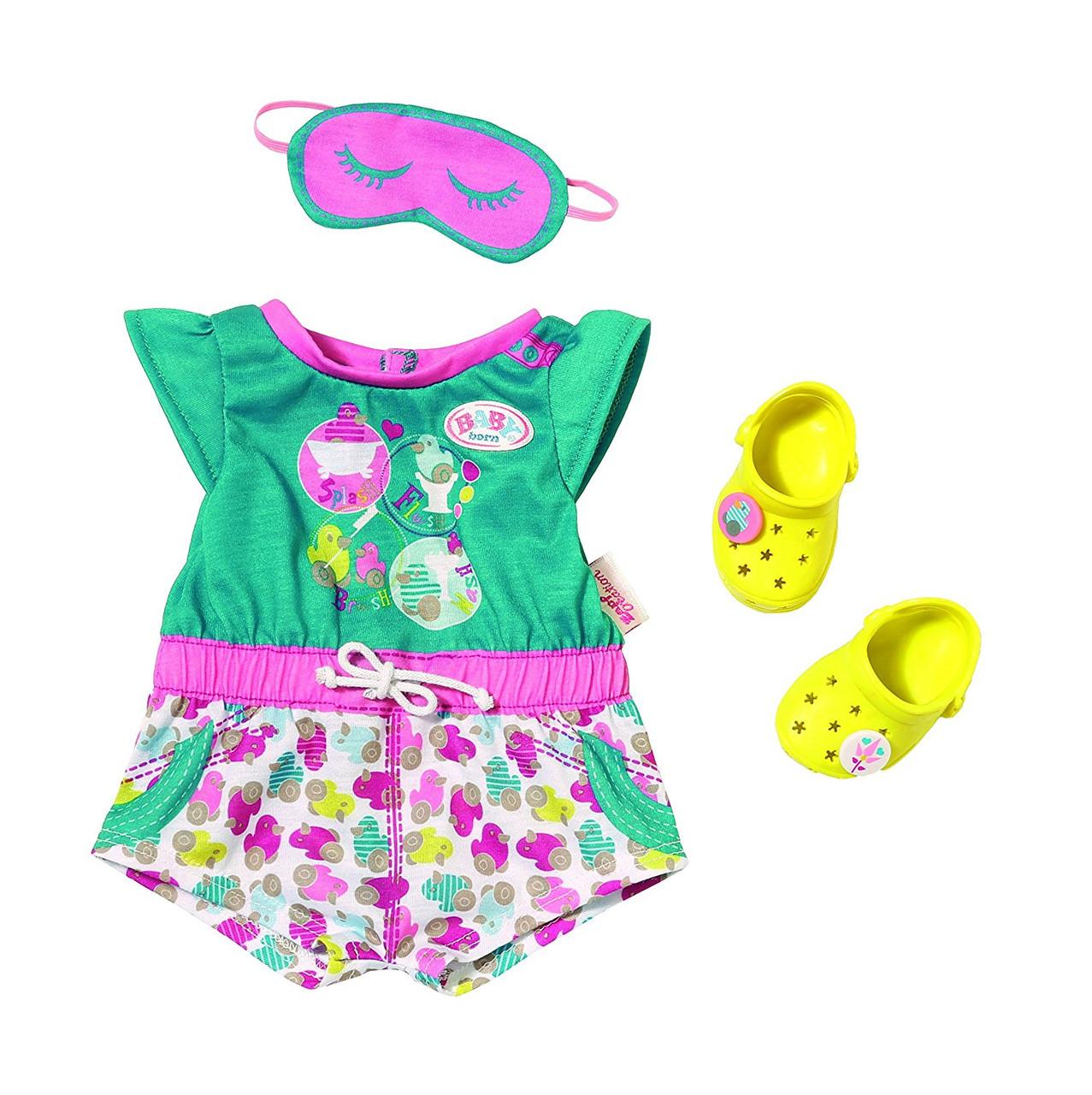 Одежда для кукол Беби Борн комплект одежды для сна Baby Born Zapf Creation 822470