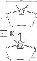 Тормозные колодки VOLKSWAGEN TRANSPORTER T4 (70XA, 70XB, 70XC, 7DB, 7DW) 01/1996-04/2003 диск. зад.,  QE2010E