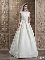 Нежная свадебная фата, вышитая чешским бисером и жемчугом