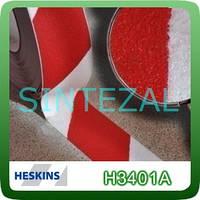 Антискользящая лента Heskins стандартной зернистости. 25 мм., Красно-белая