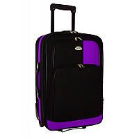 Чемодан сумка RGL 652 (большой) черно-фиолетовый