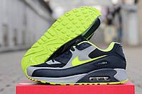 Кроссовки Nike Airmax 90 темно серые 1776