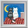 "Набор для рисования камнями ""Котики на крыше"""