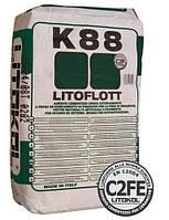 Эластичный текучий клей быстрого схватывания и высыхания для напольной укладки LITOFLOTT K88 25кг