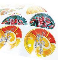 Флексопечать полноцветной этикетки