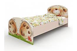 Кровать детская односпальная Мишка с букетом Вальтер 90×190 стандартная