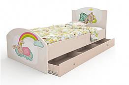 Кровать односпальная для ребенка Зайки Вальтер 90×190 стандартная