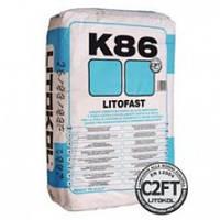 Клей быстрого схватывания с нулевым вертикальным скольжением LITOFAST K86 25кг