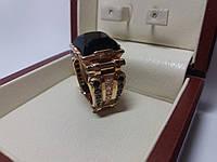 Золотой перстень мужской Черный принц , фото 1