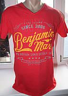 Мужская футболка V&A, Турция, 100 хлопок, красная. Размер XL (52).
