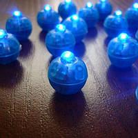 Светодиоды круглые для воздушных шариков синего цвета