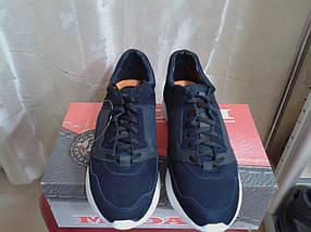 Кросовки мужские из натур. нубука МИДА 110210 синие, фото 2