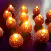 Светодиоды круглые для воздушных шариков желтого цвета