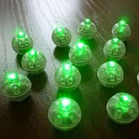 Светодиоды круглые для воздушных шариков зеленого цвета