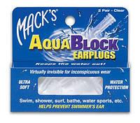 Беруши для плавания Aqua Block Mack's, 2 пары