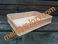 Плетеная торговая корзина 55*40 с высотой 10 см
