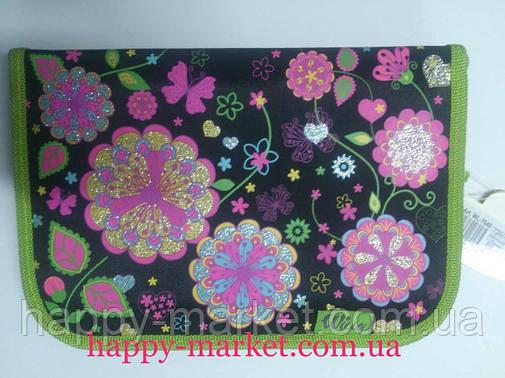 Пенал твердый Willy WL7032 Фантастические цветы (1 отделение), фото 2