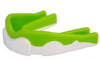 Капа боксерская Power Play  3302JR, салатово-белый/bright green white