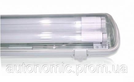Светильник EVRO-LED-SH-40 с LED лампами 4000К (2*1200мм) лампа пластик