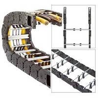 Двузвенная кабеленесущая цепь с металлическими рамками (траковая цепь)