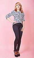 Женские лосины из трикотажа имитирующие брюки №1616