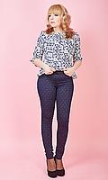 Женские лосины из трикотажа имитирующие брюки №1615