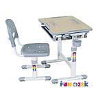 Комплект парта и стул-трансформеры Bambino Grey FunDesk, фото 3