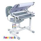 Комплект парта и стул-трансформеры Bambino Grey FunDesk, фото 4