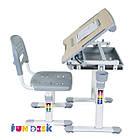 Комплект парта и стул-трансформеры Bambino Grey FunDesk, фото 6