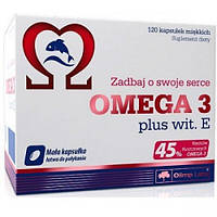 Омега 3 Olimp Labs Omega 3 45% + Vitamine E	(120	 капсул.)